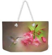 Hummingbird With Flowers Weekender Tote Bag