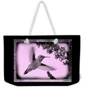 Hummingbird With Old-fashioned Frame 2  Weekender Tote Bag