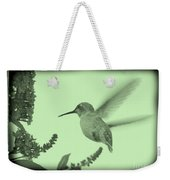 Hummingbird With Old-fashioned Frame 5 Weekender Tote Bag