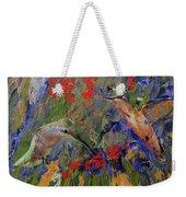 Hummingbirds 2, Abstract Art Weekender Tote Bag