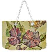 Hummingbirds And Hibiscus Weekender Tote Bag
