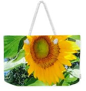 Humongous Sunflower Weekender Tote Bag