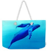 Humpback Mother Whale And Calf  #11 Weekender Tote Bag