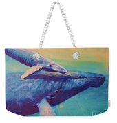 Humpback Whale And Calf Weekender Tote Bag