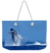 Humpback Whale Breaching Weekender Tote Bag