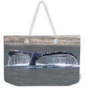 Humpback Whale Fluke Weekender Tote Bag