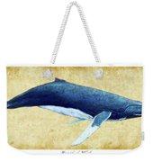Humpback Whale Painting - Framed Weekender Tote Bag