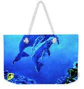 Humpback Whales Hawaii An Reef #14 Weekender Tote Bag