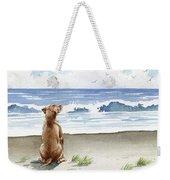 Hungarian Vizsla At The Beach Weekender Tote Bag