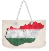 Hungary Map Art With Flag Design Weekender Tote Bag