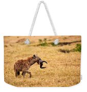Hungry Hyena Weekender Tote Bag by Adam Romanowicz