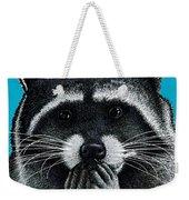 Hungry Raccoon Weekender Tote Bag