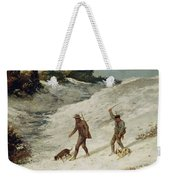 Hunters In The Snow Or The Poachers Weekender Tote Bag