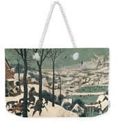 Hunters In The Snow Weekender Tote Bag