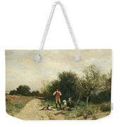 Hunters Taking A Break Weekender Tote Bag