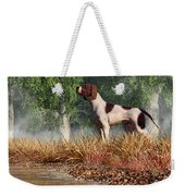 Hunting Dog By A River Weekender Tote Bag