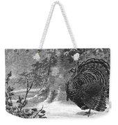 Hunting: Wild Turkey, 1886 Weekender Tote Bag