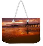 Huntington Beach At Sunset Weekender Tote Bag