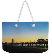 Huntington Beach High Surf At Night Weekender Tote Bag