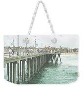 Huntington Beach Pier Weekender Tote Bag