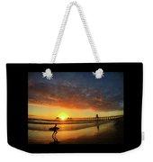 Huntington Beach Pier Sunset Weekender Tote Bag
