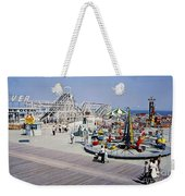 Hunts Pier On The Wildwood New Jersey Boardwalk, Copyright Aladdin Color Inc. Weekender Tote Bag