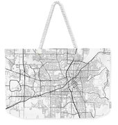 Huntsville Alabama Usa Light Map Weekender Tote Bag
