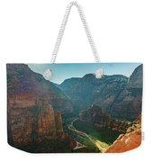 Hurricane Canyon In Utah Usa Weekender Tote Bag