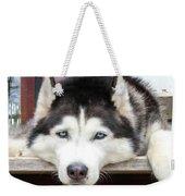 Husky Eyes Weekender Tote Bag