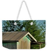 Hut With Green Boat Weekender Tote Bag