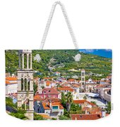 Hvar Architecture And Nature Vertical View Weekender Tote Bag