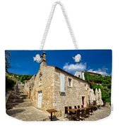Hvar Old Stone Church And Antic Steps Weekender Tote Bag