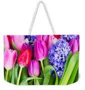 Hyacinth And  Tulip Flowers Weekender Tote Bag