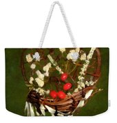 Hyacinth Heart Weekender Tote Bag