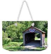 Hyde Hall Covered Bridge Weekender Tote Bag