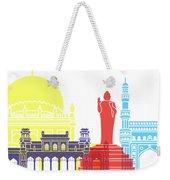 Hyderabad Skyline Pop Weekender Tote Bag
