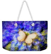 Hydrangea With White Butterfly Weekender Tote Bag