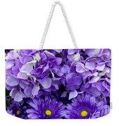 Hydrangeas And Daisies So Purple Weekender Tote Bag