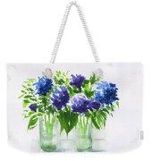 Hydrangeas At Vics  Weekender Tote Bag