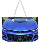 Hyper Blue Metallic 2017 Chevrolet Camaro Zl1 Weekender Tote Bag