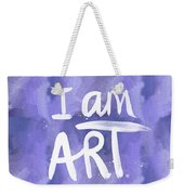 I Am Art Painted Blue And White- By Linda Woods Weekender Tote Bag