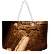 I Am The Law - Sepia Weekender Tote Bag