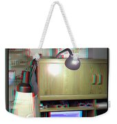 I C The Light - Use Red-cyan 3d Glasses Weekender Tote Bag