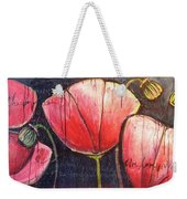 I Choose To Live A Life Of Purpose Poppies Weekender Tote Bag
