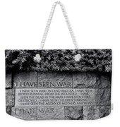 I Hate War Weekender Tote Bag
