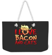I Love Bacon And Cats Weekender Tote Bag