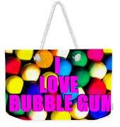 I Love Bubble Gum Weekender Tote Bag