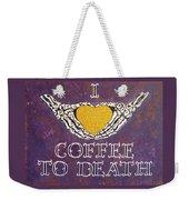 I Love Coffee Weekender Tote Bag