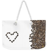 I Love Coffee Weekender Tote Bag