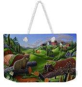 I Love Farm Life - Groundhog - Spring In Appalachia - Rural Farm Landscape Weekender Tote Bag